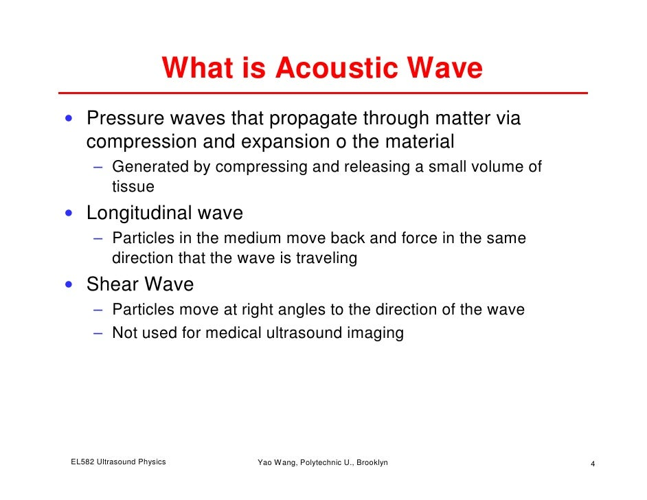 applications of ultrasound in physics