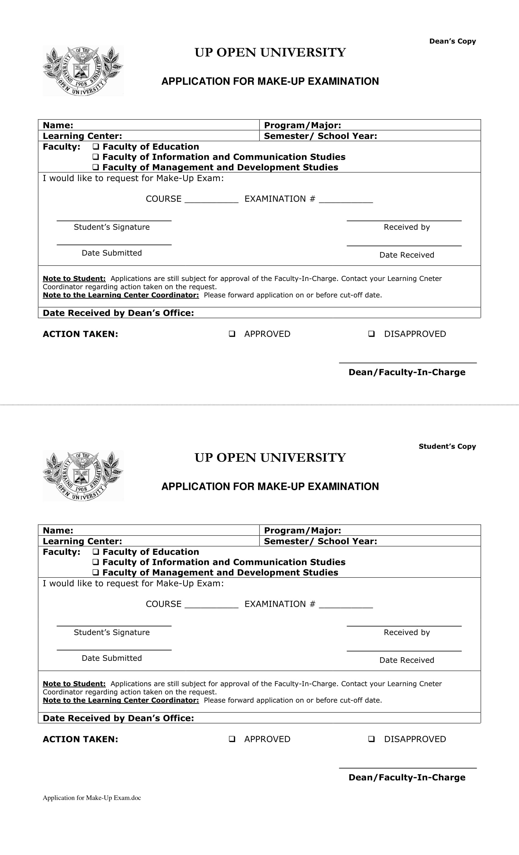 step up for students application form