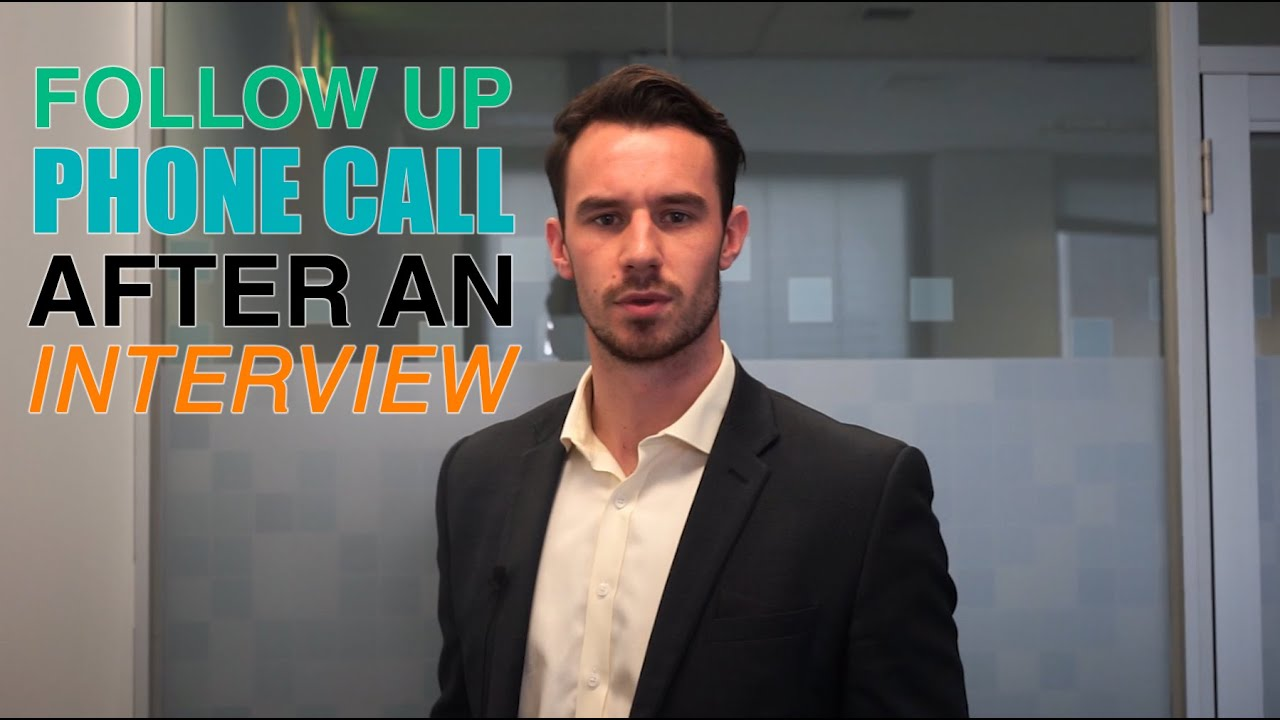 how to call for a follow up after application