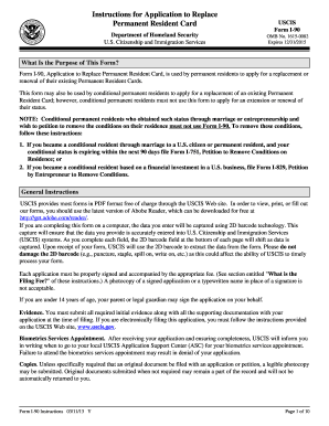 permanent resident card application form