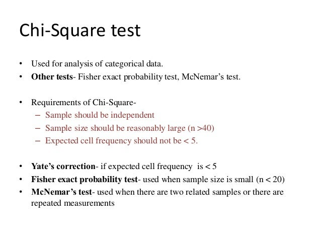 chi square test application examples