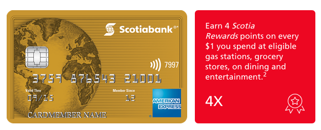 scotiabank gold american express card application