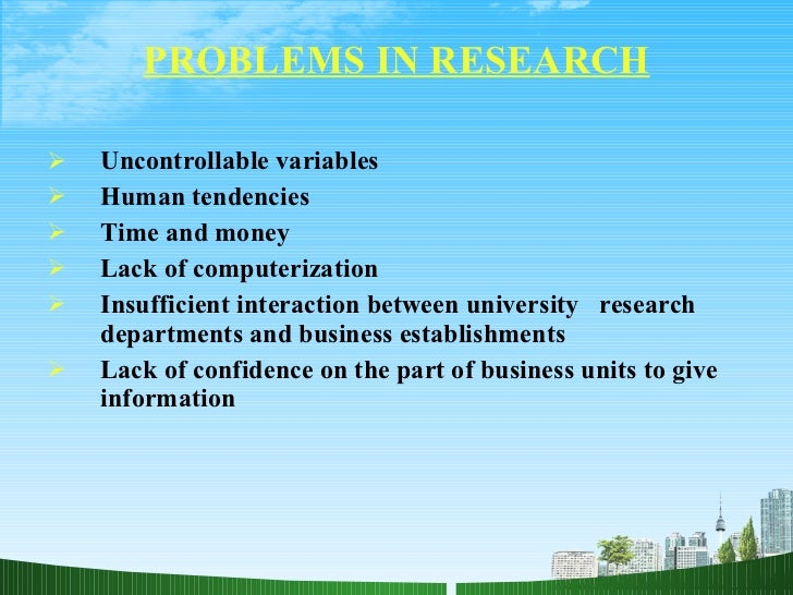 application of scientific method in research