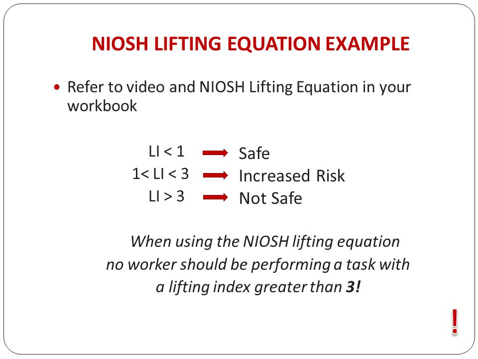 applications manual for the revised niosh lifting equation