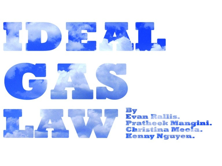 applications of the ideal gas law