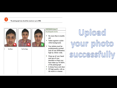 how to attach photo to passport application