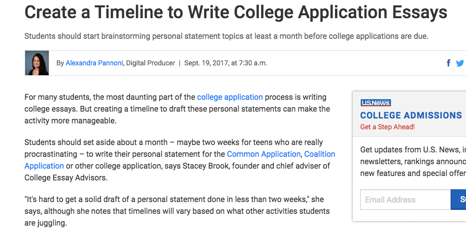 how to mail college application