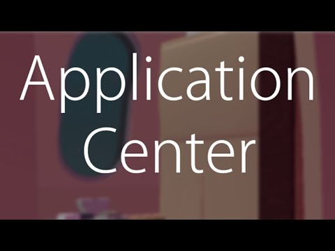 how to make a roblox application center
