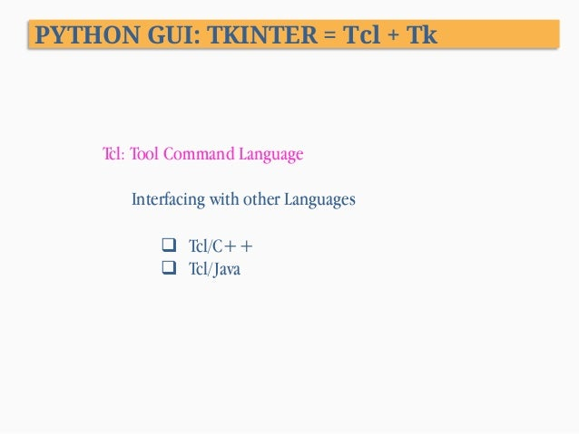 interactive web applications with tcl tk