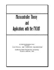 microcontroller theory and applications pdf