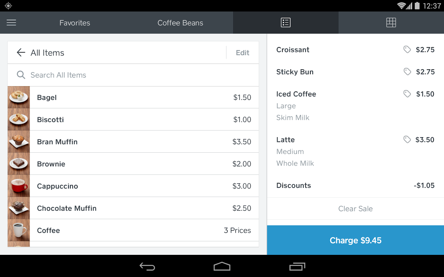 square reader application for android